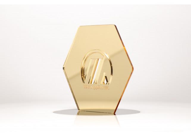 "Gold Mirror Acrylic (1 Side) - 1/8"" (3mm)"