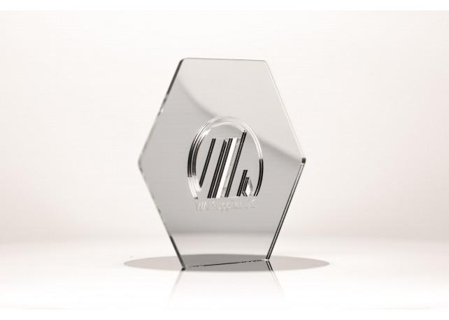 """Silver Mirror Acrylic (1 Side) - 1/8"""" (3mm)"""