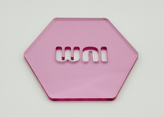 "Transparent Pink Acrylic - 1/8"" (3mm)"