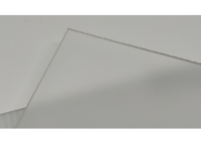 """Frosted Clear Acrylic (1 Side) - 1/8"""" (3mm)"""