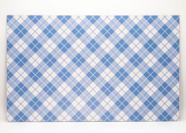 "Baby Blue Plaid 2 uniBoard - 1/8"" (3mm)"